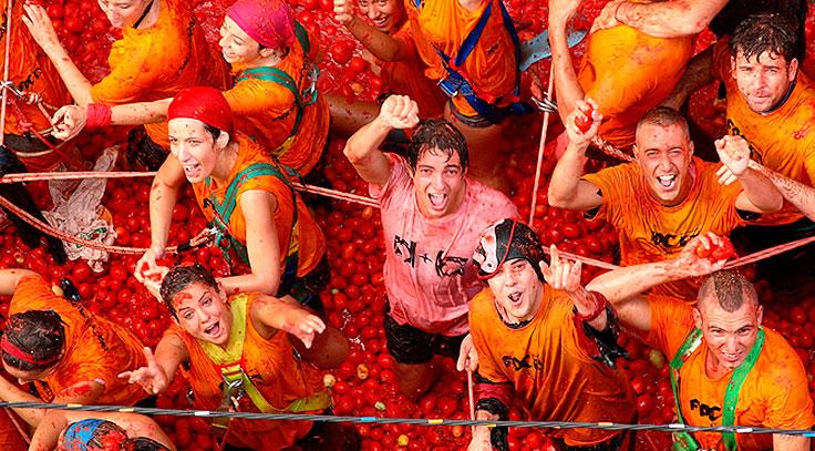 Fiestas de la Tomatina en Buñol
